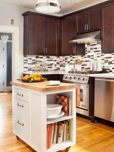 small kitchen layouts with island - Google Search