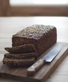 Danish rye bread! Nomnomnom...healthy and tasty... great as croutons on autumn soups as well!