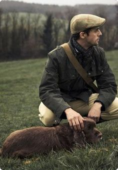 Another adorable creature that you just want to stroke and tickle under the chin - and the dog is quite nice too. Matthew Goode for Hackett London. English Country Manor, English Style, English Countryside, Countryside Style, Dapper Gentleman, Gentleman Style, Matthew Goode, English Gentleman, Country Fashion