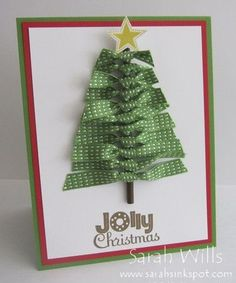 Another great project for the kids ~ Ribbon tree card