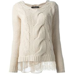SCEE BY TWIN-SET cable knit jumper - Polyvore