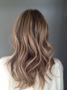 brunette with subtle blonde highlights