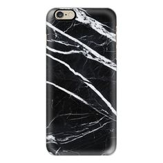 iPhone 6 Plus/6/5/5s/5c Case - Black marble ($40) ❤ liked on Polyvore featuring accessories, tech accessories, iphone case, iphone cover case, apple iphone cases and slim iphone case