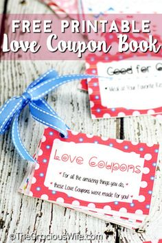 FREE DIY Printable Love Coupon Book makes a perfect, loving valentine's day gift for him! Make a Love Coupon Book with 54 love coupons to choose from, some naughty and some nice. Tutorial with entire book printable for you to print! Diy Birthday Gifts For Him, Surprise Gifts For Him, Thoughtful Gifts For Him, Christmas Gifts For Him, Holiday Gifts, Birthday Ideas, Xmas, Coupons For Boyfriend, Diy Gifts For Boyfriend