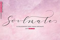 Soulmate   Graceful Font  INTRO SALE by MrLetters on @creativemarket