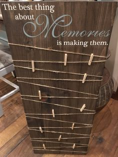 Making Memories Wooden Sign / Photo Displays / Wood Photo