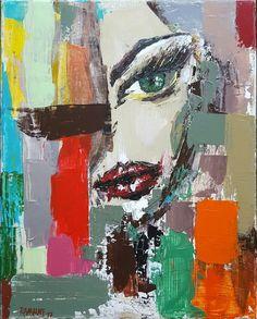 💛🌻 When look at you...❤💋🎨 portraitartist portraits faces artist painting webnartclub contemporary contemporaryart interiør womenstyle beautyandthebeast womenbeauty interiordesign interiors  abstractartist abstraktekunst artworks_portrait