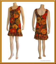 Vintage 1960's Mini Dress by Gilmore from Casa Diva Vintage at rubylane.com