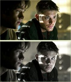 This was the first scene they ever did together and Jensen was already doing Dean's little checking on Sam, eye glance thing. :)