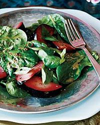 Spinach, Basil and Plum Salad Recipe from Food & Wine