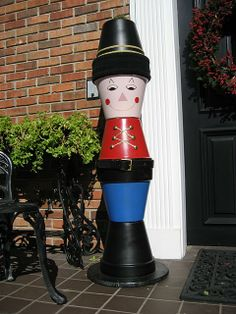 Flower pot toy soldier for Christmas! We had these growing up!!!