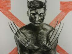 Lobezno X-Men dibujo pastel 42 × 58 cm
