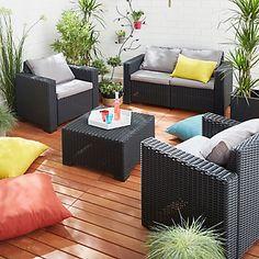 Salon de jardin en rotin, Collection Soron - CASTORAMA | Home ...