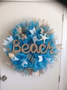 Beach ruffle wreath  Camo Girl Custom Wreaths
