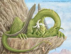 Dragon on the cliff