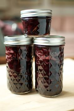 Sweet Cherry Preserves with Honey and Rosemary | Food in Jars