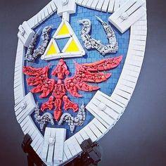 Hylian shield - @ringtoss.amiibo - how neat is this?? Need the master sword!!!  The Legend of Zelda shield made out of Lego bricks. Perfection. --------------------- Credit: Remi Flickr.com --------------------- #hylian #hylianshield #amiibo #nintendo #pokemon #gameboy #gamecube #n64 #ninstagram #animalcrossing #videogames #collector #collection #retrogaming #retro #amiibos #gamer #pikachu #pokemongo #gamestagram #toycollector #nes #nerd #supersmashbros #zelda #mario #retrocollective #3ds…