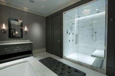 Contemporary Bathroom Design Ideas: Stunning Walk In Bathroom Shower