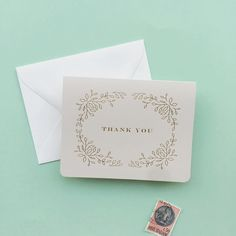 gold foil thank you | Smitten on Paper