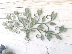 Iron Tree Wall Decor, Home Decor, Garden Decor, Shabby Chic, Rustic, Cottage Theme, Leafy Green