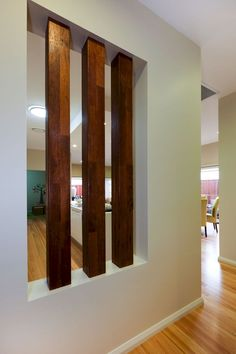 90 Inspiring Room Dividers and Separator Design 40 - Rockindeco Living Room Partition Design, Living Room Divider, Room Divider Walls, Room Partition Designs, Wood Partition, Room Divider Bookcase, Luxury Rooms, Timber Flooring, Vinyl Flooring