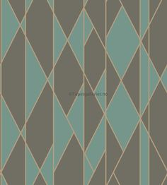 Oblique by Cole & Son - Teal and Black - Wallpaper : Wallpaper Direct Teal And Black Wallpaper, Geometric Wallpaper Metallic, Cole And Son Wallpaper, Bold Wallpaper, Wallpaper Online, Print Wallpaper, Wallpaper Roll, Wallpaper Designs, Pattern Wallpaper