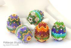 Tutorial Faberge Style Egg Beaded Bead peyote by TheBeadedBead