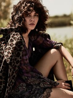 Steuffy Argelich has us seeing spots in Dior coat and Etro mixed media dress