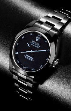 Roley Milgauss - would prefer a black leather strap, rather than the bracelet one. Beautiful dial though!