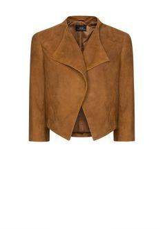 MANGO - CLOTHING - Jackets - Suede cropped jacket