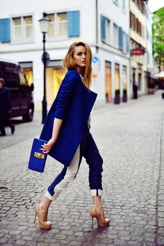 2014 fashion trends #navyblue#white#nude