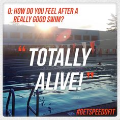 How do you feel after a really good swim? #GetSpeedoFit