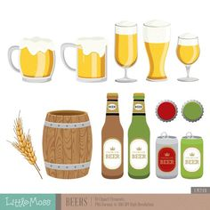 Beers Digital Clipart by LittleMoss on Etsy Guitar Clipart, St Patricks Day Cupcake, Decoupage Printables, Party Banners, Flower Clipart, Card Tags, Greeting Card, Vintage Marketplace, Coupon Codes