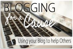 Blogging Tips | How to Blog | Non Profit Blogging | Jackie Wilson encourages all bloggers to blog for a cause...and it can help your own blog too!