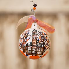 Glory Haus Clemson Deck The Halls Ornament | underthecarolinamoon.com