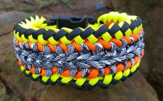 Paracord Dog Collar - Custom Made - Pick Your Colors by ClubSavage on Etsy