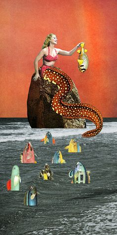 """Mermaid Two"" by Eugenia Loli.  Gallery  