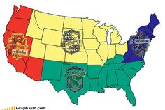more Harry Potter humor! aww Iowa is in Hufflepuff! And I wanted to be a Slytherin...cuz they need love too...