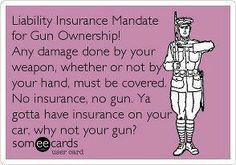 Liability insurance on all guns.