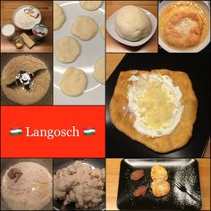 Langos * Langosch 8 Stück Teig 400 g Mehl 20 g Hefe 200 g Milch 2 EL Öl 1/2 TL Salz Ausbackfett Belag 200 g Schmand 100 g Käse Den Käse in Stücken in den Mixtopf geben, 6 sec / Stufe 8 reibe…