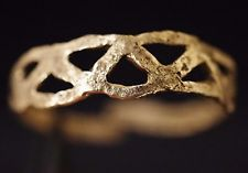 Ancient Viking Solid GOLD Ring depicting Norse Eternity Loop Knot, c 950-1000 AD