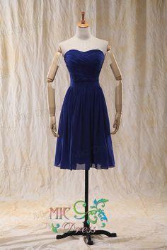 ALine/Princess Sweetheart Short/Mini Chiffon by MicDress on Etsy, $69.00