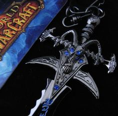 World of Warcraft Lich King Sword KeyChain  http://mytopnotchproducts.com/products/world-of-warcraft-lich-king-sword-keychain  #warcraft #war #craft