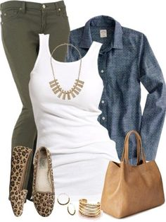 A fashion look from August 2014 featuring Soaked in Luxury tops, J.Crew tops and 7 For All Mankind jeans. Browse and shop related looks. Komplette Outfits, Casual Work Outfits, Business Casual Outfits, Fashion Outfits, Fashion Trends, Fashion Tips, Fall Winter Outfits, Spring Outfits, Looks Camisa Jeans