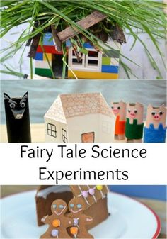 Fairy Tale Science Experiments, great for Early Years science, Kindergarten science and Science. Make a zip wire for Jack, grow a bean stalk, make a house for the Three Little Pigs and lots more fairy tale science Fairy Tale Crafts, Fairy Tale Theme, Fairy Tale Projects, Preschool Science, Science For Kids, Science Fun, Science Centers, Science Daily, Science Week