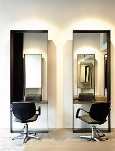 Box mirrors - Toni & Guy, Port Melbourne | Travis Walton Architecture & Interior Design