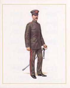 Uniforme de servico de generales del Ejército de Chile en 1925 / 1925 Chilean Army general officers' service uniform.