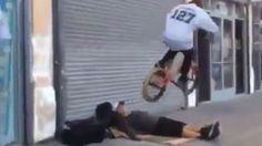 Video: BMX Rider Using Homeless For Stunts - A Funny Video on KillSomeTime