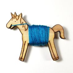 Flossy the Unicorn Embroidery Floss Bobbin by sugarcookie on Etsy https://www.etsy.com/listing/62857502/flossy-the-unicorn-embroidery-floss