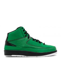 detailed look 4df9c b1164 Air Jordan 2 Retro Qf Candy Pack Classic Green Black White 395709 301